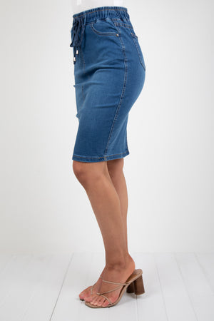 BILLY SKIRT - DENIM BLUE