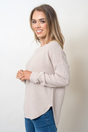 TRIBECA ZIP BACK KNIT - OATMEAL