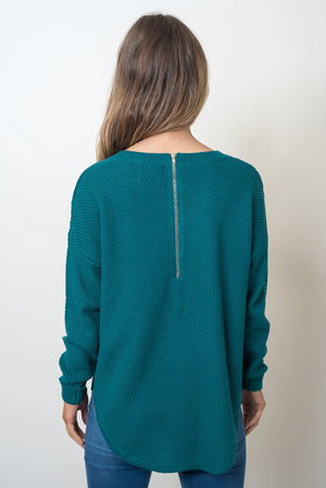 TRIBECA ZIP BACK KNIT - EMERALD