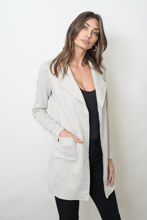 MARRIOT SUEDE JACKET - GREY
