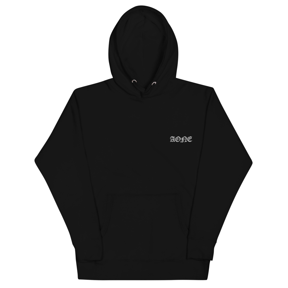 AONE EMBROIDERED HOODIE BLACK
