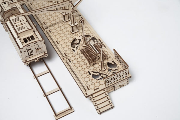 Railway Platform - build your own working model by UGears - UGears - 5