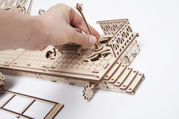 Railway Platform - build your own working model by UGears - UGears - 6