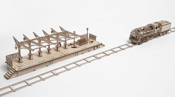 Railway Platform - build your own working model by UGears - UGears - 10