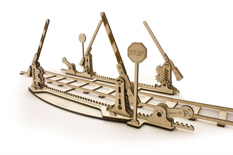 Rails and Crossing - build your own working model by UGears - UGears - 2