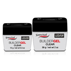 Supernail LED / UV Soak Off Clear Builder Gel 15ml