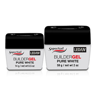 Supernail LED / UV Soak Off White Builder Gel 14g