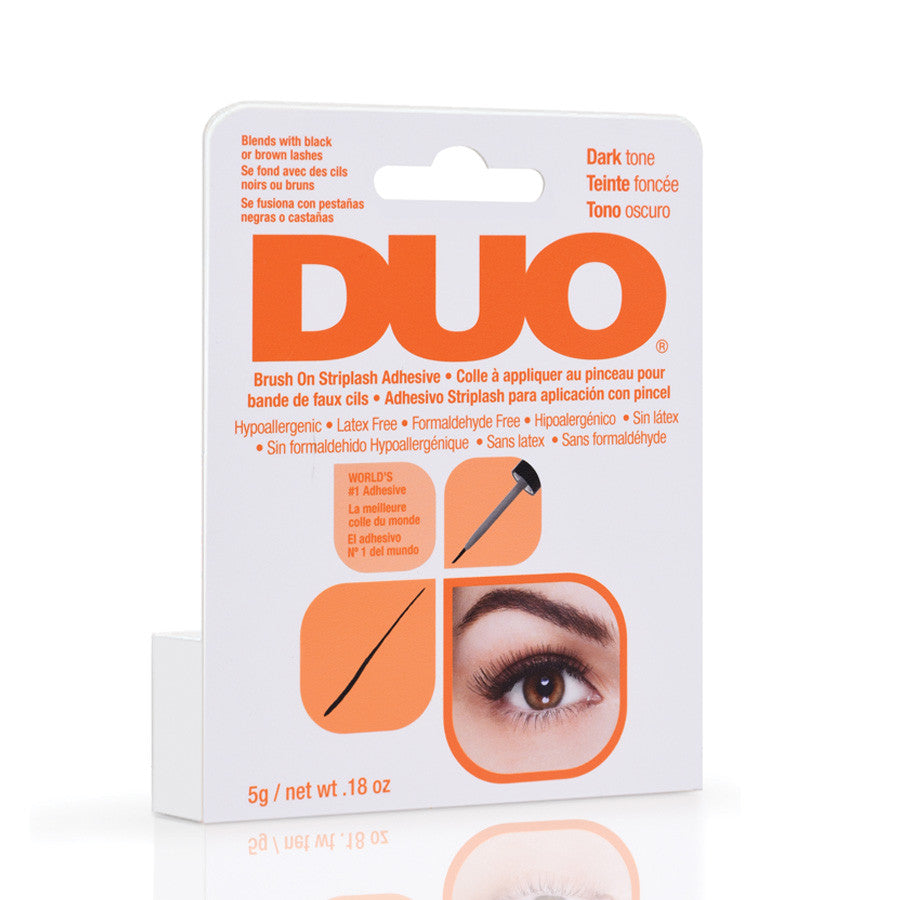 0a8af701393 DUO Lash Adhesive Dark Brush On For Strip Lashes – Leonelda Products