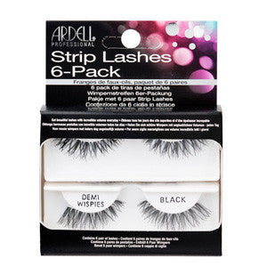 Ardell Strip Lashes Invisibands Demi Wispies Black 6 pack