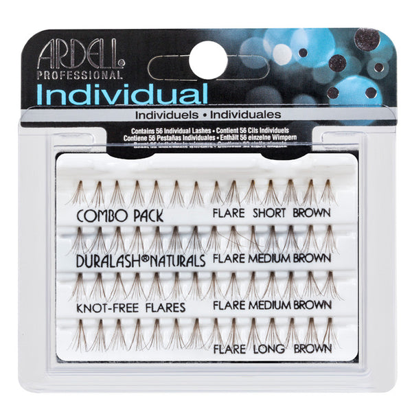 Ardell Individual Eyelashes Natural Knot Free Combo Brown