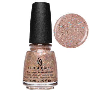 China Glaze Beach It Up Fine Copper & Rose Gold Gliiter Nail Varnish