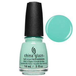 Too Much Of A Good Fling China Glaze Pale Green Turquoise Nail Varnish