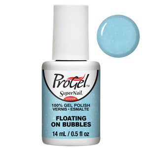 Floating On ProGel UV LED Gel Polish 14ml in light blue shimmer