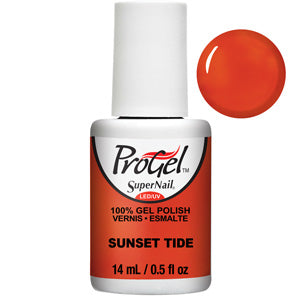 Sunset Tide ProGel UV LED Gel Polish 14ml in deep orange with slight shimmer