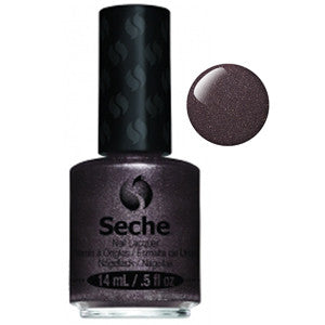 Captivating Seche One Coat Dark Mauve Shimmer Nail Varnish