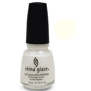 White Ice China Glaze White Shimmer Nail Varnish