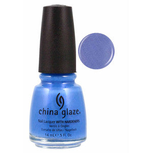 Rain Storm China Glaze Bright Blue Shimmer Nail Varnish