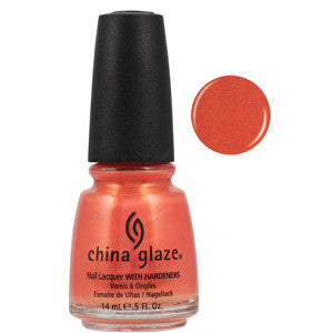 Thataway China Glaze Light Orange Shimmer Nail Varnish