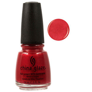 Go Crazy Red China Glaze Red Shimmer Nail Varnish