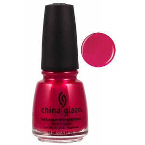 Sexy Silhoutte China Glaze Bright Pink Shimmer Nail Varnish