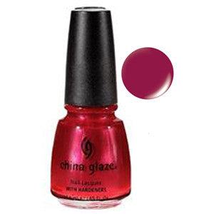 Spitfire China Glaze Red Pink Shimmer Nail Varnish