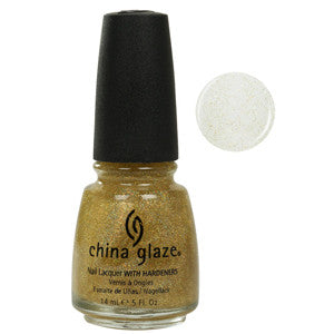 Golden Enchantment China Glaze Gold Glitter Nail Varnish