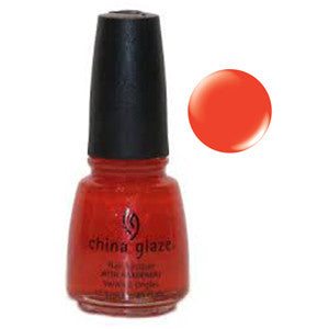 Sexy China Glaze Orange Shimmer Nail Varnish