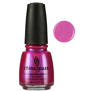 Caribean Temptation China Glaze Vibrant Pink Shimmer Nail Varnish