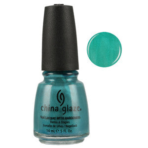 Passion In The Pacific China Glaze Blue Green Shimmer Nail Varnish