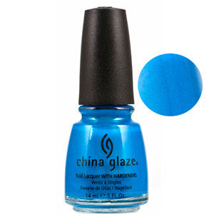 Sexy in the City China Glaze Aqua Blue Shimmer Nail Varnish