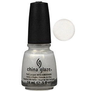 White Kwik Silvr China Glaze White with Silver Shimmer Nail Varnish