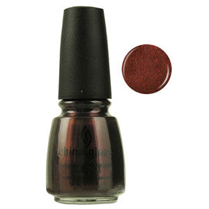 Aniv X China Glaze Red Brown Shimmer Nail Varnish