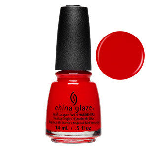 Flame-boyant China Glaze Bright Orange Red Neon Nail Varnish