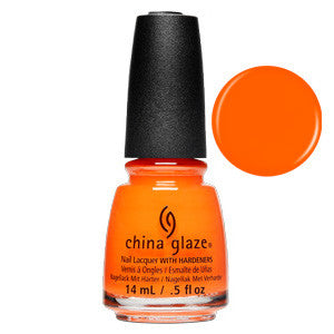 Sultry Solstice China Glaze Neon Orange Nail Varnish