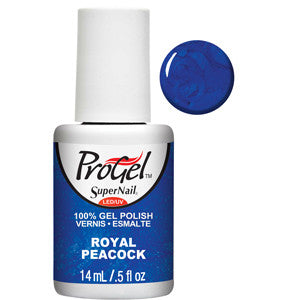 Royal Peacock Royal Blue Shimmer ProGel UV LED Gel Polish 14ml