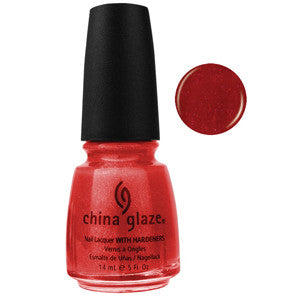 Rasberry Festival China Glaze Red Glitter Nail Varnish