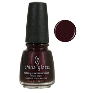 Short & Sassy China Glaze Burgundy Shimmer Nail Varnish