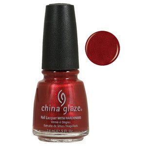 Drive in China Glaze Orange Red Shimmer Nail Varnish