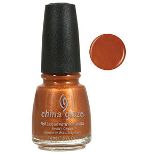 Cruisin China Glaze Gold Copper Shimmer Nail Varnish