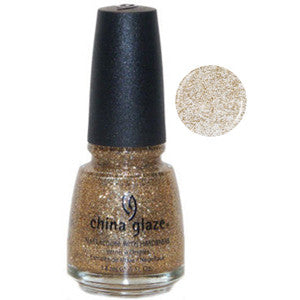 Cleopatra China Glaze Gold Glitter Nail Varnish