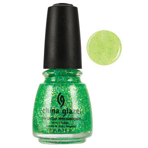 Sour Apple China Glaze Lime Green Glitter Nail Varnish