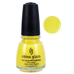 Sunshine China Glaze Yellow Glitter Nail Varnish
