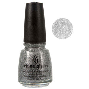Silver Lining China Glaze Silver Glitter Nail Varnish