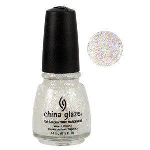 Snow Globe China Glaze White Glitter Nail Varnish