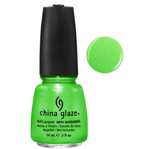 I'm with the Lifeguard China Glaze Neon Lime Green Shimmer  Nail Varnish