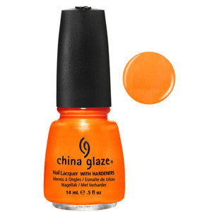 Orange You Hot China Glaze Neon Orange Shimmer Nail Varnish