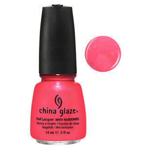 Flirty Tankini China Glaze Neon Coral Orange Shimmer Nail Varnish