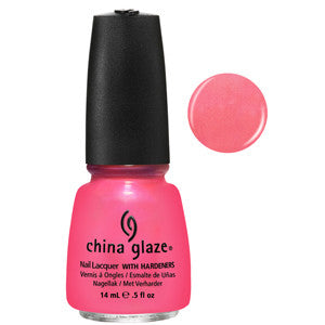 Pink Plumeria China Glaze Light Pink Neon Shimmer Nail Varnish