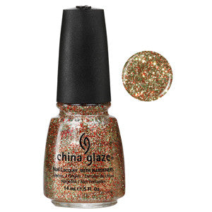 Twinkle Lights China Glaze Red & Gold Glitter Nail Varnish