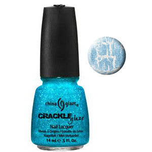Glam Me Up China Glaze Blue Glitter Crackle Nail Varnish